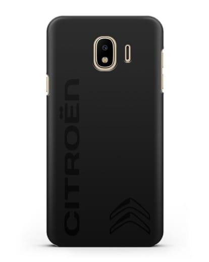 Чехол с надписью Citroen и логотипом силикон черный для Samsung Galaxy J4 2018 [SM-J400F]