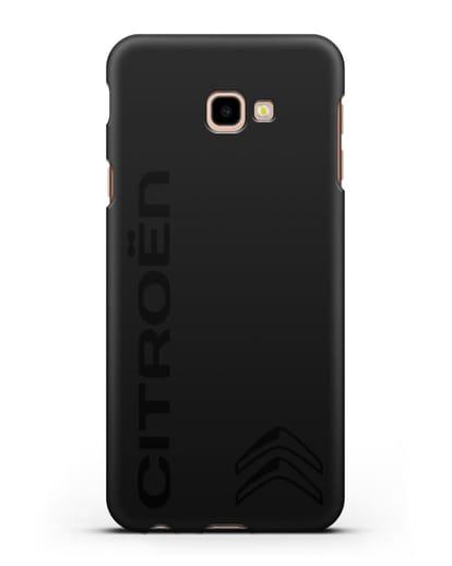 Чехол с надписью Citroen и логотипом силикон черный для Samsung Galaxy J4 Plus [SM-J415]