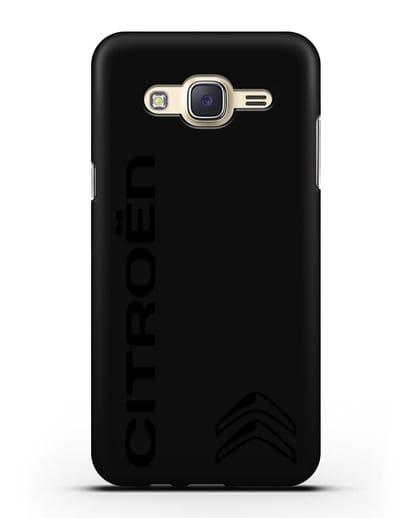 Чехол с надписью Citroen и логотипом силикон черный для Samsung Galaxy J7 2015 [SM-J700H]