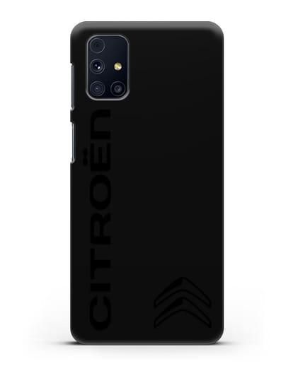 Чехол с надписью Citroen и логотипом силикон черный для Samsung Galaxy M31s [SM-M317F]