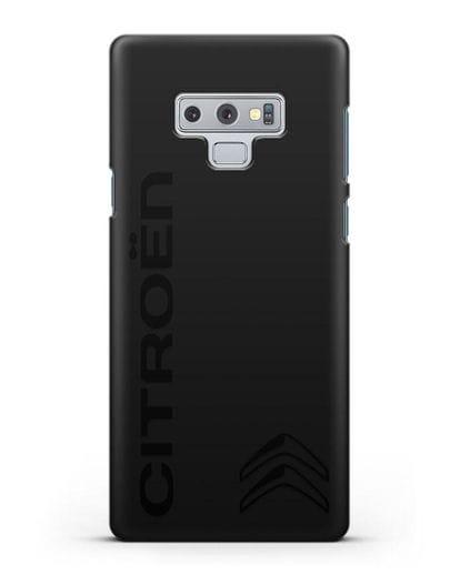 Чехол с надписью Citroen и логотипом силикон черный для Samsung Galaxy Note 9 [N960F]