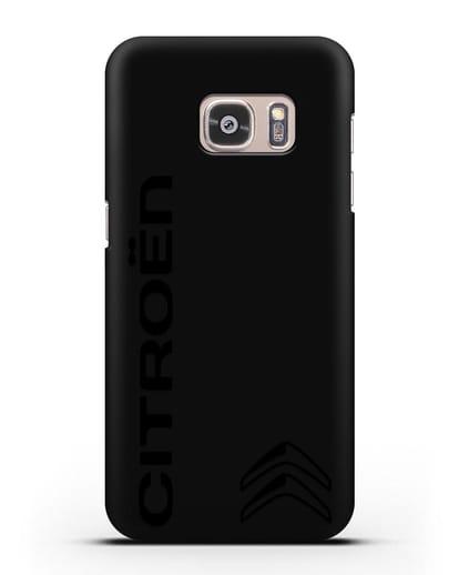 Чехол с надписью Citroen и логотипом силикон черный для Samsung Galaxy S7 Edge [SM-G935F]