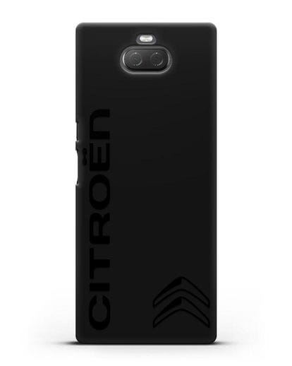 Чехол с надписью Citroen и логотипом силикон черный для Sony Xperia 10