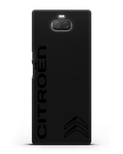 Чехол с надписью Citroen и логотипом силикон черный для Sony Xperia 10 Plus