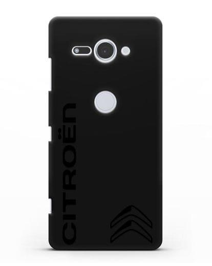 Чехол с надписью Citroen и логотипом силикон черный для Sony Xperia XZ2 Compact