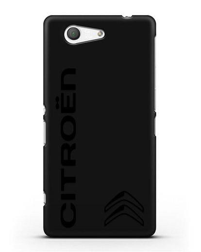 Чехол с надписью Citroen и логотипом силикон черный для Sony Xperia Z3 Compact