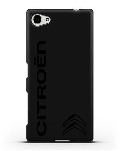 Чехол с надписью Citroen и логотипом силикон черный для Sony Xperia Z5 Compact