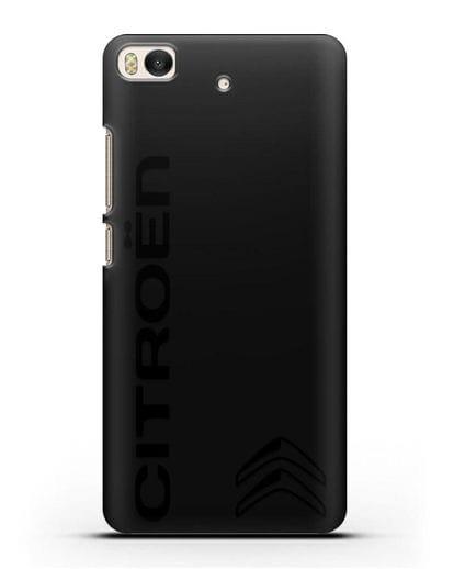 Чехол с надписью Citroen и логотипом силикон черный для Xiaomi Mi 5S