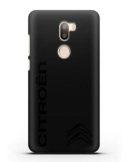 Чехол с надписью Citroen и логотипом силикон черный для Xiaomi Mi 5S Plus