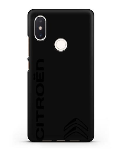Чехол с надписью Citroen и логотипом силикон черный для Xiaomi Mi 8 SE