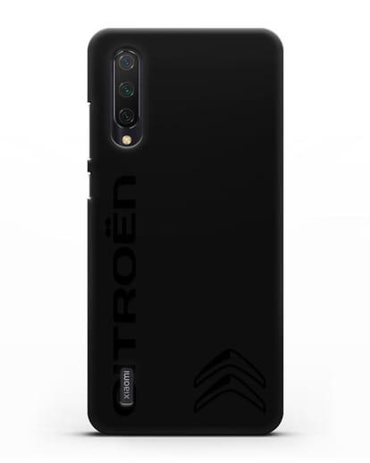 Чехол с надписью Citroen и логотипом силикон черный для Xiaomi Mi 9 Lite