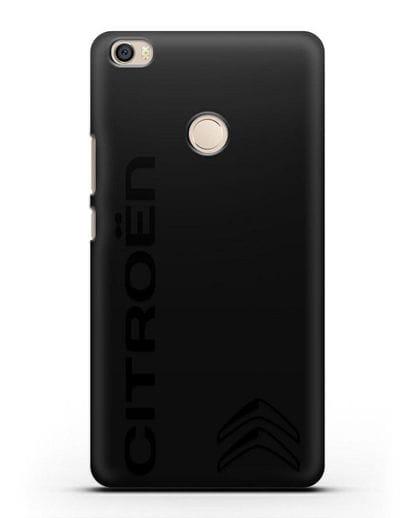 Чехол с надписью Citroen и логотипом силикон черный для Xiaomi Mi Max
