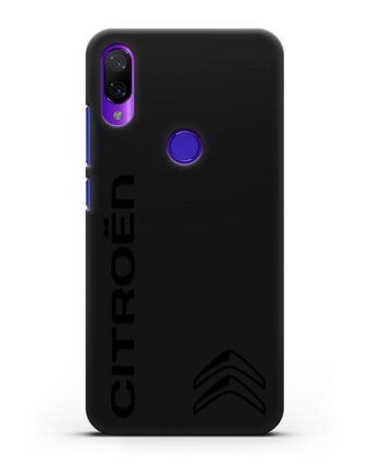 Чехол с надписью Citroen и логотипом силикон черный для Xiaomi Mi Play