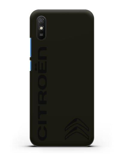 Чехол с надписью Citroen и логотипом силикон черный для Xiaomi Redmi 9A