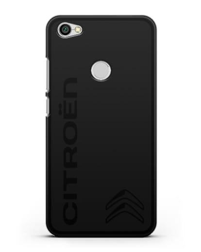 Чехол с надписью Citroen и логотипом силикон черный для Xiaomi Redmi Note 5A Prime