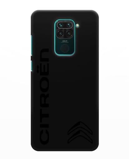 Чехол с надписью Citroen и логотипом силикон черный для Xiaomi Redmi Note 9