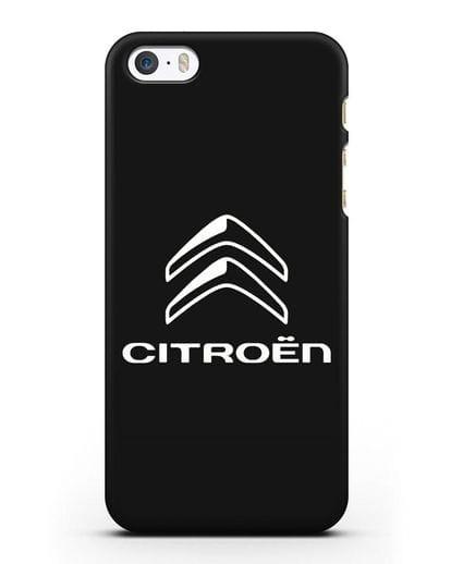 Чехол с логотипом Citroen силикон черный для iPhone 5/5s/SE