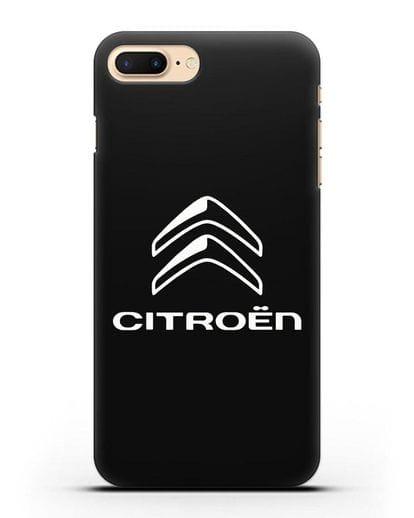 Чехол с логотипом Citroen силикон черный для iPhone 8 Plus