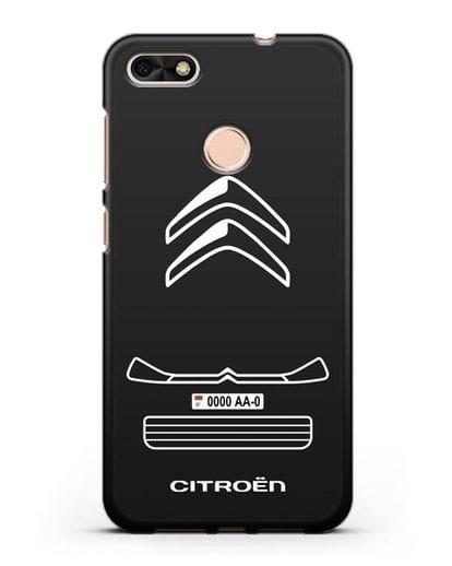 Чехол Citroen с номерным знаком силикон черный для Huawei P9 Lite mini