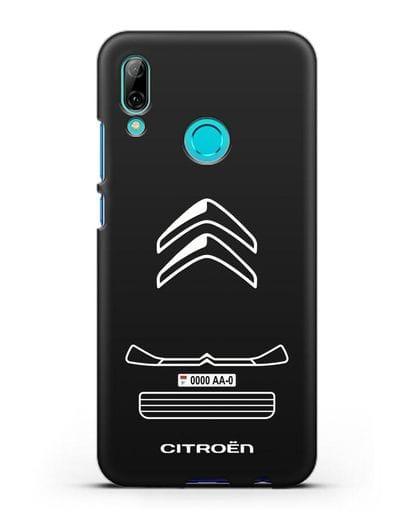 Чехол Citroen с номерным знаком силикон черный для Huawei P Smart 2019