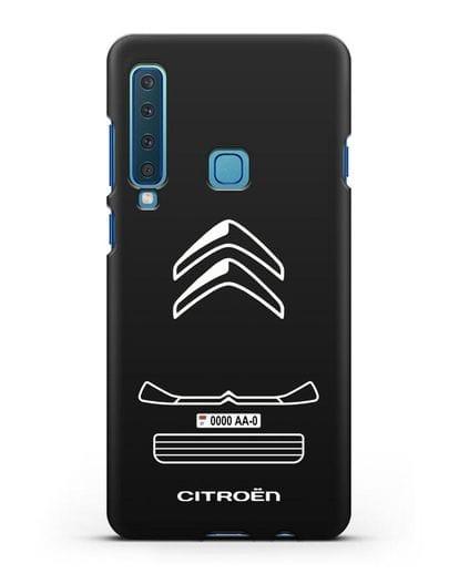 Чехол Citroen с номерным знаком силикон черный для Samsung Galaxy A9 (2018) [SM-A920]