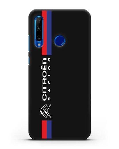 Чехол с логотипом Citroen Racing силикон черный для Honor 10i