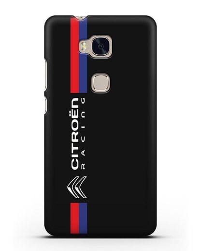 Чехол с логотипом Citroen Racing силикон черный для Honor 5X