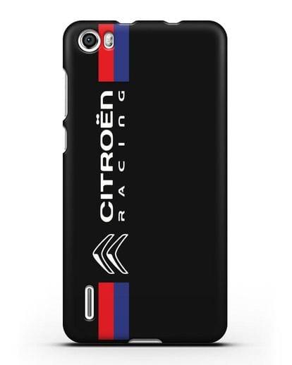 Чехол с логотипом Citroen Racing силикон черный для Honor 6