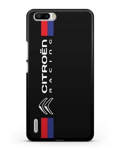 Чехол с логотипом Citroen Racing силикон черный для Honor 6 Plus