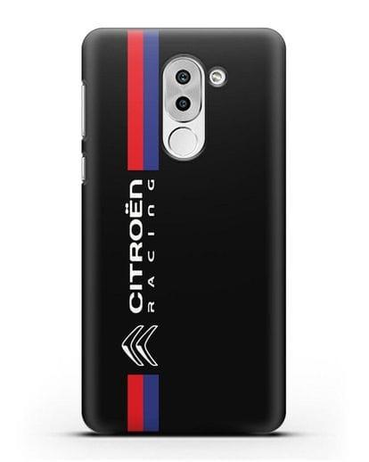 Чехол с логотипом Citroen Racing силикон черный для Honor 6X