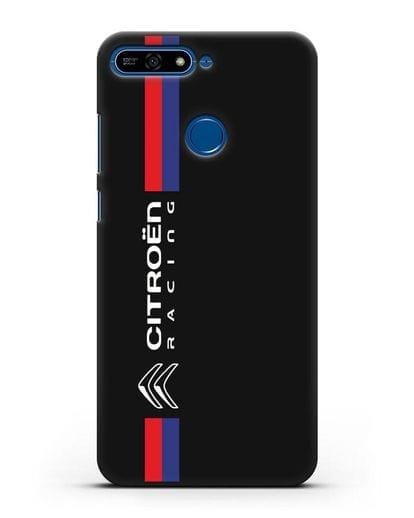 Чехол с логотипом Citroen Racing силикон черный для Honor 7А Pro