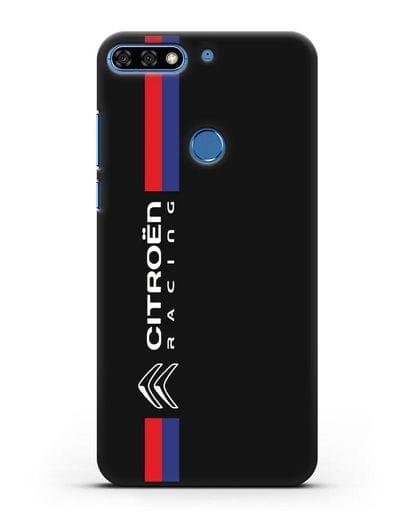 Чехол с логотипом Citroen Racing силикон черный для Honor 7C Pro