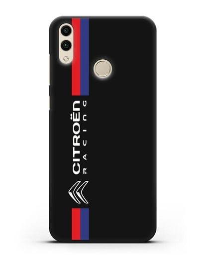 Чехол с логотипом Citroen Racing силикон черный для Honor 8C