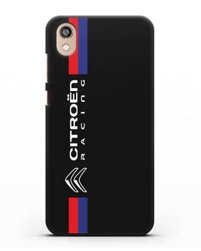 Чехол с логотипом Citroen Racing силикон черный для Honor 8S