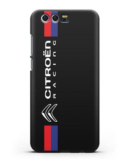 Чехол с логотипом Citroen Racing силикон черный для Honor 9