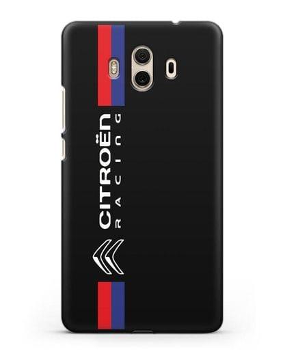 Чехол с логотипом Citroen Racing силикон черный для Huawei Mate 10
