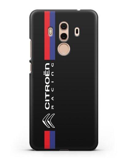 Чехол с логотипом Citroen Racing силикон черный для Huawei Mate 10 Pro