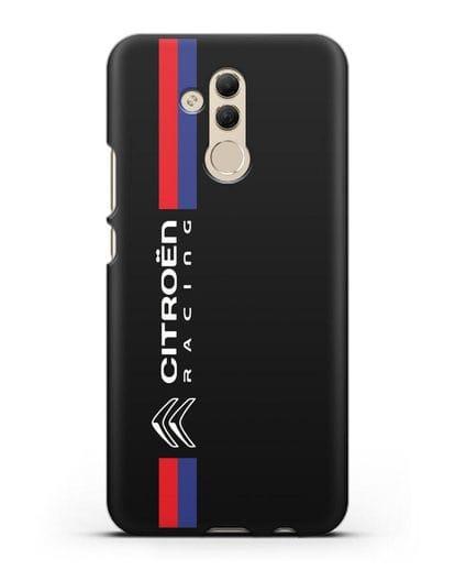 Чехол с логотипом Citroen Racing силикон черный для Huawei Mate 20 Lite