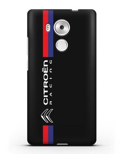 Чехол с логотипом Citroen Racing силикон черный для Huawei Mate 8