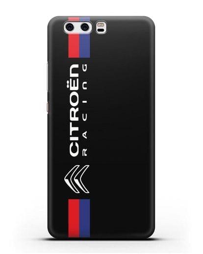Чехол с логотипом Citroen Racing силикон черный для Huawei P10 Plus