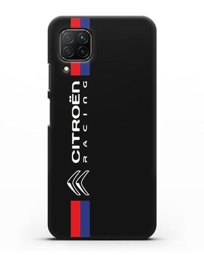 Чехол с логотипом Citroen Racing силикон черный для Huawei P40 lite