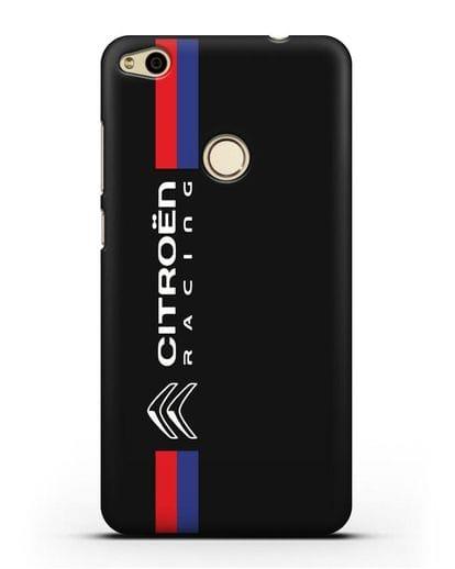 Чехол с логотипом Citroen Racing силикон черный для Huawei P8 Lite 2017