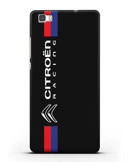 Чехол с логотипом Citroen Racing силикон черный для Huawei P8 Lite