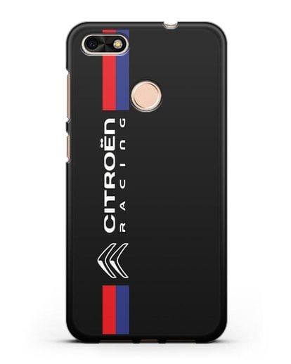 Чехол с логотипом Citroen Racing силикон черный для Huawei P9 Lite mini