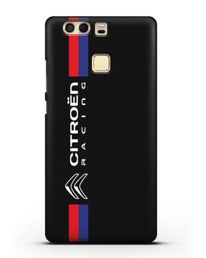 Чехол с логотипом Citroen Racing силикон черный для Huawei P9 Plus