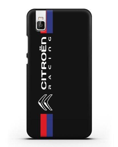 Чехол с логотипом Citroen Racing силикон черный для Huawei Shot X