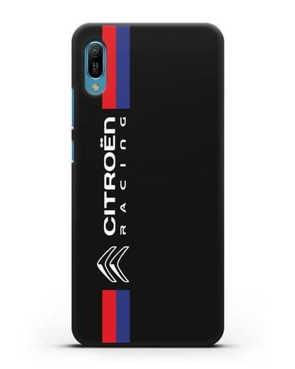 Чехол с логотипом Citroen Racing силикон черный для Huawei Y6 2019