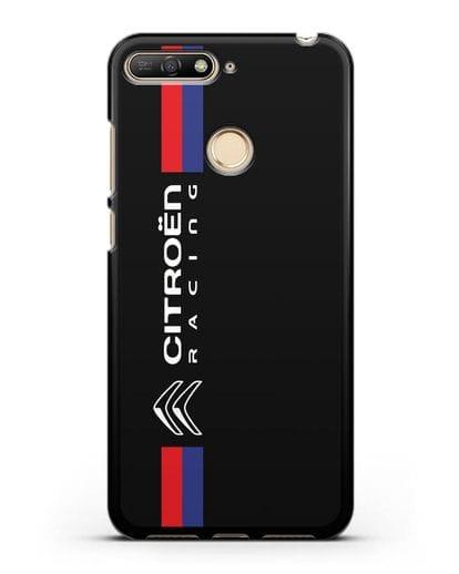Чехол с логотипом Citroen Racing силикон черный для Huawei Y6 Prime 2018
