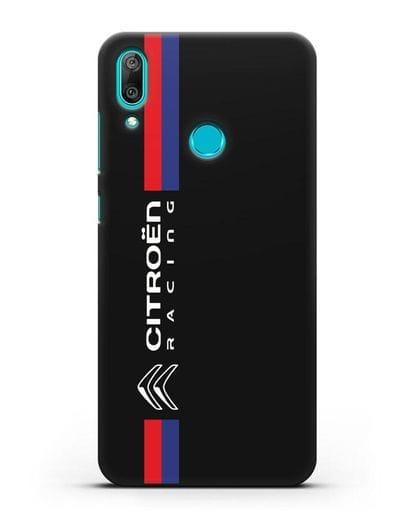 Чехол с логотипом Citroen Racing силикон черный для Huawei Y7 2019