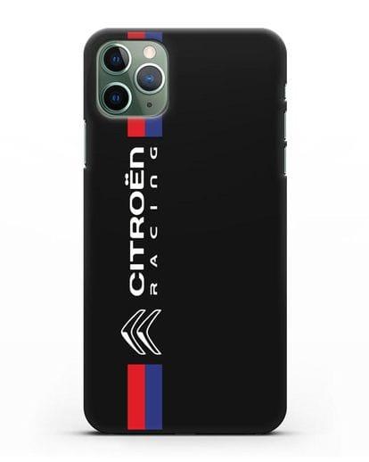 Чехол с логотипом Citroen Racing силикон черный для iPhone 11 Pro Max